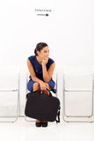 Waiting employment interview Royalty Free Stock Photo