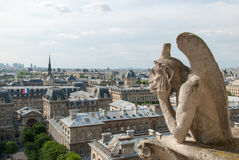 Bored Gargoyle of Notre Dame II. Stock Photography