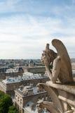 Bored Gargoyle of Notre Dame IV. Royalty Free Stock Photography