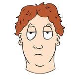 Bored gezicht. vector illustratie