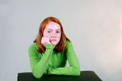 Bored Ginger Royalty Free Stock Photography