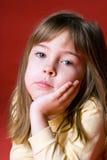 Bored girl Stock Image