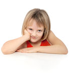 Bored girl Royalty Free Stock Photos