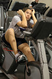 Bored at the gym Royalty Free Stock Photography
