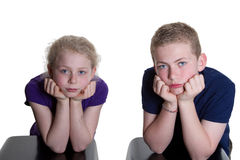 Bored kids Stock Images