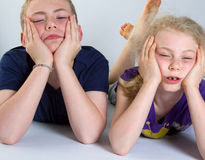 Bored kids Stock Photography
