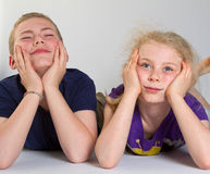 Bored kids Royalty Free Stock Photography