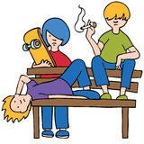 Bored Kids. A picture of bored and/or unruly kids vector illustration