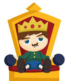 Bored King Royalty Free Stock Images
