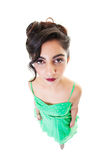 Bored Lady Fisheye Portrait Royalty Free Stock Images