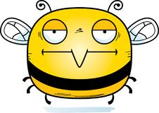 Bored Little Bee. A cartoon illustration of a bee looking bored vector illustration