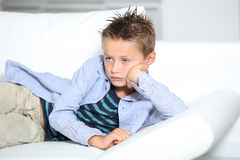 Bored little boy Royalty Free Stock Images