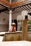 Bored little girl Stock Image