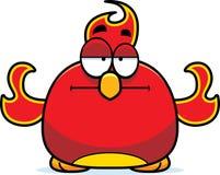Bored Little Phoenix. A cartoon illustration of a phoenix bird looking bored Stock Image