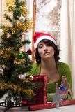 Bored lonely Xmas Stock Images