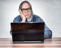 Bored man Stock Image