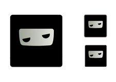 Bored Ninja Icons Stock Images
