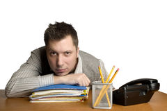 Bored Office Worker. Royalty Free Stock Photos