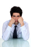 Bored office worker Royalty Free Stock Photography