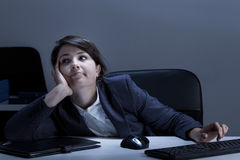 Bored office worker Royalty Free Stock Image