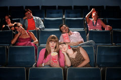 Bored People In Theater Royalty Free Stock Image