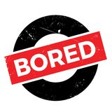 Bored rubber stamp Stock Photos