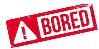 Bored rubber stamp Royalty Free Stock Photo