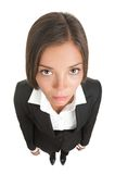Bored sad businesswoman isolated royalty free stock photo