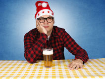 Bored Santa Royalty Free Stock Images