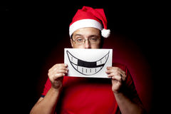 Bored Santa Xmas Man Royalty Free Stock Photography