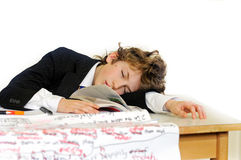 Bored school boy Royalty Free Stock Photography