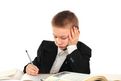 Bored schoolboy Royalty Free Stock Photography