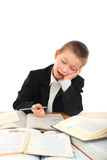 Bored schoolboy Stock Photography
