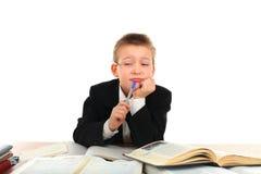 Bored schoolboy Stock Photo