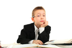 Bored schoolboy Royalty Free Stock Images