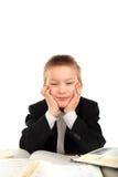 Bored schoolboy Stock Image