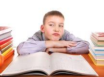 Bored Schoolboy Royalty Free Stock Photo