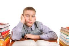 Bored Schoolboy Royalty Free Stock Photos