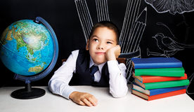 Bored schoolboy Stock Image