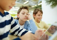 Bored schoolboy Royalty Free Stock Photo