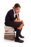 Bored schoolgirl Royalty Free Stock Image