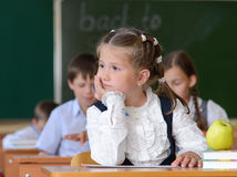 Bored schoolgirl Royalty Free Stock Photography