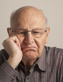 Bored senior man Royalty Free Stock Image
