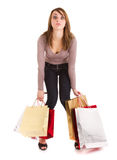 Bored shopping  girl Stock Photo