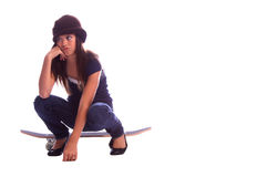 Bored Skater Girl Stock Image