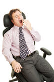 Bored Sleepy Businessman Royalty Free Stock Photo