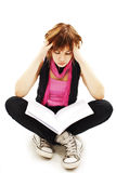 Bored student Royalty Free Stock Images