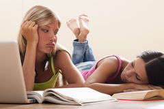 Bored students Royalty Free Stock Photos