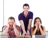 Bored students Stock Photo