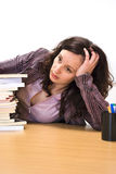 Bored studying Stock Image
